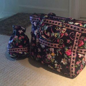 Vera Bradley zippered tote/suitcase